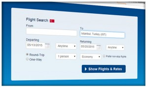 Turkey domestic flight search
