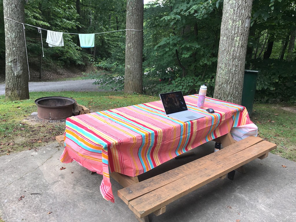 Best Office Is a Camping Table